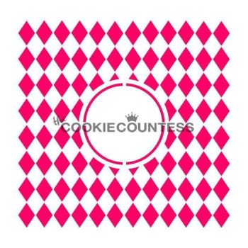 Harlequin Monogram by The Cookie Countess