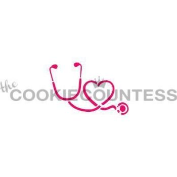 Stethoscope and Heart by The Cookie Countess: 3 Units @ £4.44 Per Unit