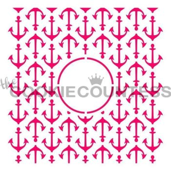 Anchors Monogram by The Cookie Countess