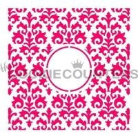 Countess Damask Monogram by The Cookie Countess