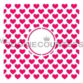 Hearts Monogram by The Cookie Countess