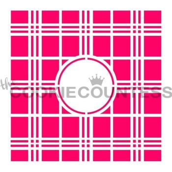 Plaid Monogram by The Cookie Countess