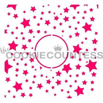 Stars Monogram by The Cookie Countess