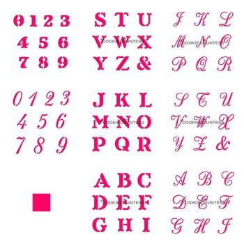 Cookie Countess - Alphabets and Numbers Set by The Cookie Countess