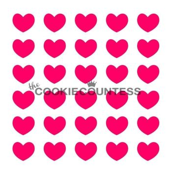 Hearts by The Cookie Countess: 3 Units @ £3.85 Per Unit