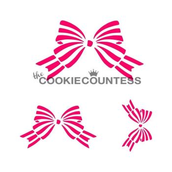 Bows 3 sizes by The Cookie Countess: 3 Units @ £4.44 Per Unit