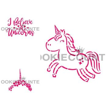 Cookie Countess - 3 Stencil New Unicorn Bundle by The Cookie Countess
