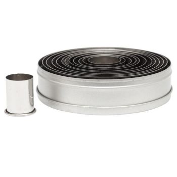 Ateco 12pc Plain Round Cutter Set. 6 units at  £11.33 per unit.