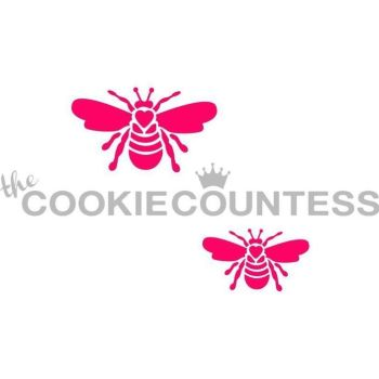 Bees 2 sizes by The Cookie Countess: 3 Units @ £4.44 Per Unit