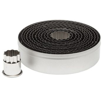 Ateco 12pc Fluted Round Cutter Set. 6 units at  £16.00 per unit.