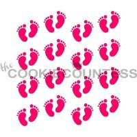 Baby Footprints by The Cookie Countess: 3 Units @ £4.44 Per Unit