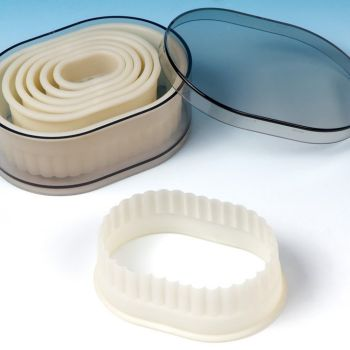 Fat Daddios Nylon Cutter Set, Boxed, Fluted Oval, 7 pc set