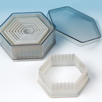 Fat Daddios Nylon Cutter Set, Boxed, Fluted Hexagon, 9 pc set