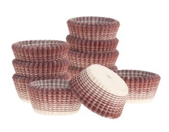 Ateco Burgundy Stripe Petit Four. 12 units at £2.49 per unit.
