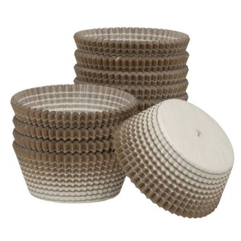 Ateco Gold Stripe Muffin Cups. 12 units at  £5.24 per unit.