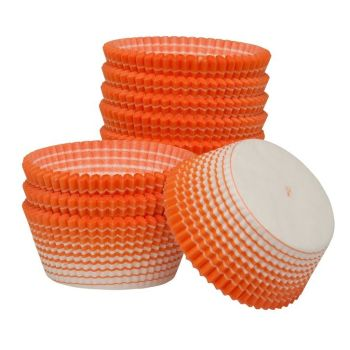 Ateco Orange Stripe Muffin Cups. 12 units at  £5.24 per unit.