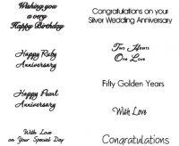 Patchwork Cutters Celebration Lettering (Wedding / Anniversary / Birthday)
