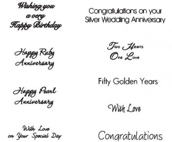 Patchwork Cutters Celebration Lettering (Wedding / Anniversary / Birthday)
