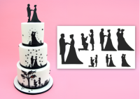 Patchwork Cutters Wedding Silhouette Set