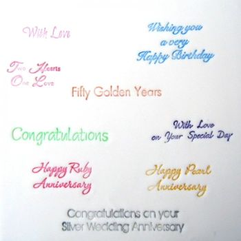 Patchwork Cutters Celebration Lettering (Anniversary / Birthday)