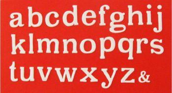Patchwork Cutters Large Alphabet Lower Case