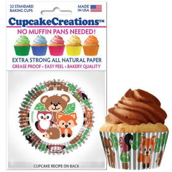 Cupcakes Creations Woodland Cupcake Cases, 32 Pieces Per Pack @ £2.08 per pack. 12 Packs Per Carton = £ 21.72