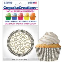 Cupcakes Creations Scroll Cupcake Cases, 32 Pieces Per Pack @ £2.08 per pack. 12 Packs Per Carton = £ 21.72