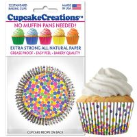 Cupcakes Creations Fun Dots Cupcake Cases, 32 Pieces Per Pack @ £2.08 per pack. 12 Packs Per Carton = £ 21.72