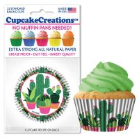 Cupcakes Creations Cactus Cupcake Cases, 32 Pieces Per Pack @ £2.08 per pack. 12 Packs Per Carton = £ 21.72