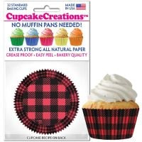 Cupcakes Creations Buffalo Plaid Cupcake Cases, 32 Pieces Per Pack @ £2.08 per pack. 12 Packs Per Carton = £ 21.72