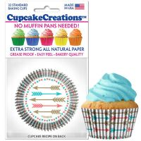 Cupcakes Creations Arrow Cupcake Cases, 32 Pieces Per Pack @ £2.08 per pack. 12 Packs Per Carton = £ 21.72
