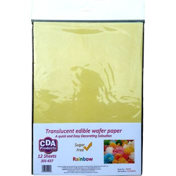 CDA Wafer Paper Pack of 12 Rainbow Pack of Wafer Paper