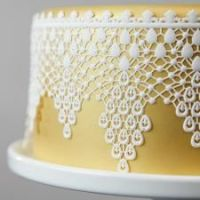 Global Sugar Art  Lace Droplets 3-D Silicone Lace Mat by Chef Alan Tetreault