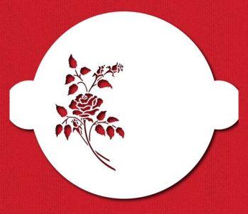 Designer Stencils C156 Rose Spray Cake Stencil, Beige/semi-transparent