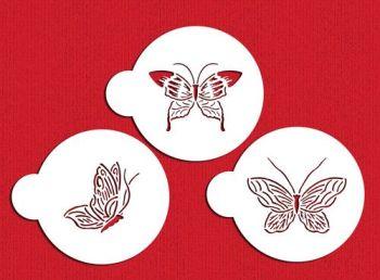 Designer Stencils C155 Butterfly Cake Stencils, Beige/semi-transparent