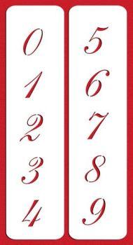 Designer Stencils C143 2.25 Inch Script Numbers Cake Stencils, Beige/semi-transparent
