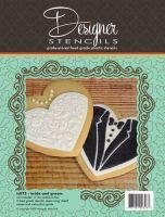 Designer Stencils Bride & Groom Cookie Cutter & Stencil Set by Designer Stencils