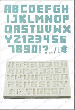 FPC Sugarcraft Alphabet (Pixel Script)