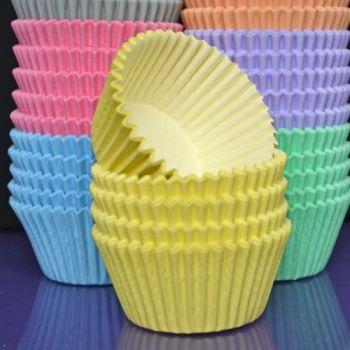 Purple Cupcakes Cupcake Cases Solid Colour x 60 - Pastel Lemon, MOQ 6, £1.31 per box of 60
