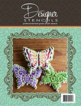 Butterflies Tin Cookie Cutter and Stencil Set TS063 by Designer Stencils