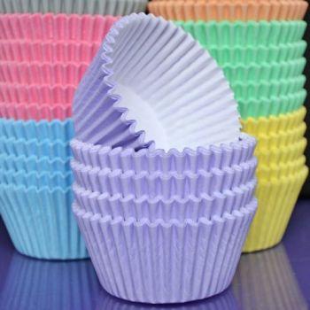 Purple Cupcakes Cupcake Cases Solid Colour x 60 - Pastel Lilac, MOQ 6, £1.31 per box of 60