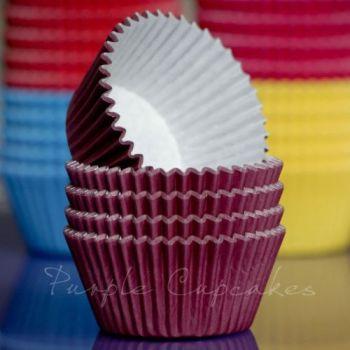 Purple Cupcakes Cupcake Cases Solid Colour x 60 - Burgundy, MOQ 6, £1.31 per box of 60