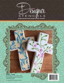 Designer Stencils Cross Cookie Cutter & Stencil Set by Designer Stencils