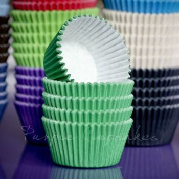 Purple Cupcakes Cupcake Cases Solid Colour x 60 - Green, MOQ 6, £1.31 per box of 60