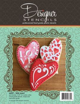 Designer Stencils Folk Heart Cookie Cutter & Stencil Set by Designer Stencils
