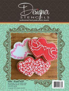Designer Stencils Double Heart Cookie Cutter & Stencil Set by Designer Stencils