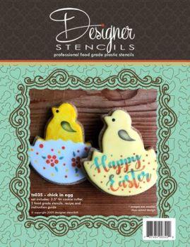 Designer Stencils Chick in Egg Cookie Cutter & Stencil Set by Designer Stencils