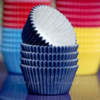 Purple Cupcakes Cupcake Cases Solid Colour x 60 - Navy Blue, MOQ 6, £1.31 per box of 60