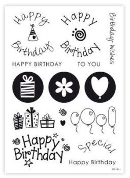 Purple Cupcakes Stamps - Birthday & Elements, MOQ 8, £5.40 per unit