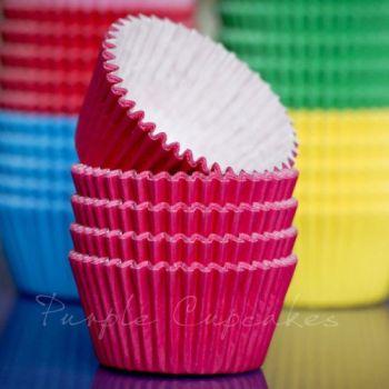 Purple Cupcakes Cupcake Cases Solid Colour x 60 - Cerise Pink, MOQ 6, £1.31 per box of 60